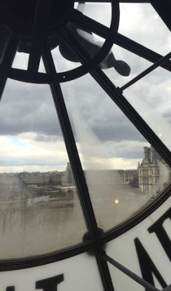 Inside the Clock Tower Looking at The Louvre